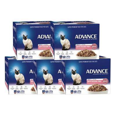 Advance Ocean Fish In Jelly Adult 1+ Years Pouches Wet Cat Food 85gm x 60