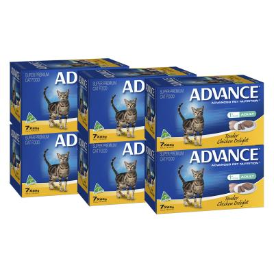 Advance Tender Chicken Adult 1+ Years Tray Canned Wet Cat Food 85gm x 42