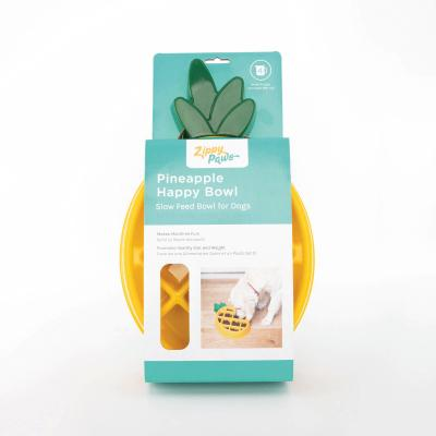 Zippy Paws Happy Bowl Slow Feeder Pineapple Bowl For Dogs