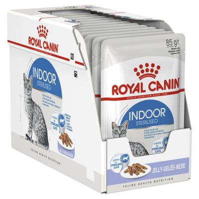 Royal Canin Indoor Sterilised Adult In Jelly Pouches Wet Cat Food 12 x 85g