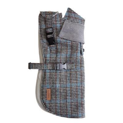 Kazoo Hemmy Dog Coat With Harness Hatch Grey Medium 46.5cm