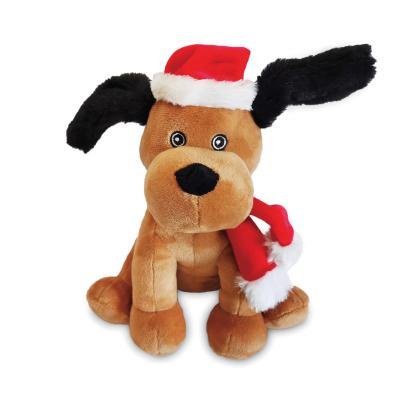 Kazoo Christmas Puppy Plush Squeak Toy For Dogs