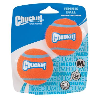 Chuck It Tennis Balls Medium Fetch Toy For Dogs 6cm 2 Pack