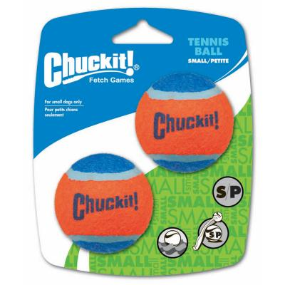Chuck It Tennis Balls Small Fetch Toy For Dogs 5cm 2 Pack