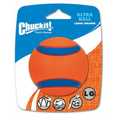 Chuckit Ultra Ball Large Fetch Rubber Toy For Dogs 8cm 1 Pack