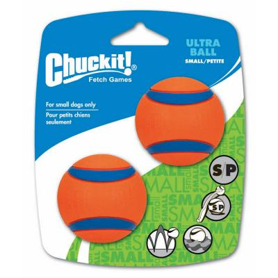 Chuckit Ultra Balls Small Fetch Rubber Toy For Dogs 5cm 2 Pack