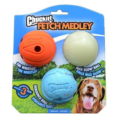 Chuckit Fetch Medley Rubber Balls Toy For Dogs 6cm 3 Pack