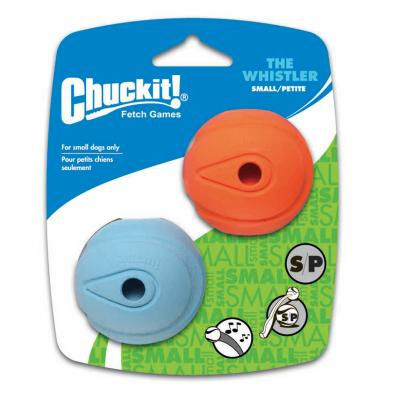 Chuck It Whistler Balls Small Fetch Rubber Toy For Dogs 5cm 2 Pack
