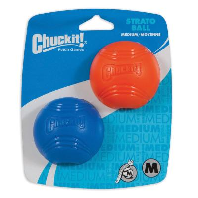 Chuck It Strato Balls Medium Fetch Rubber Toy For Dogs 2 Pack