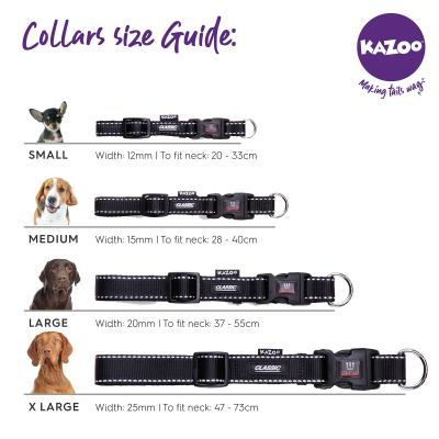 Kazoo Active Adjustable Nylon Collar Silver Pink 20-30cm x 12mm Small For Dogs