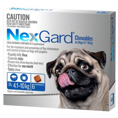NexGard For Dogs Blue Small 4.1-10kg 6 Pack