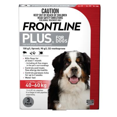 Frontline Plus For Dogs Extra Large 40-60kg 3 Pack