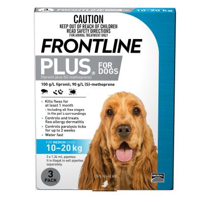 Frontline Plus For Dogs Medium 10-20kg 3 Pack