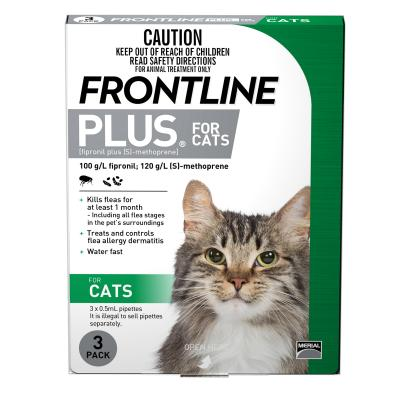 Frontline Plus For Cats 3 Pack