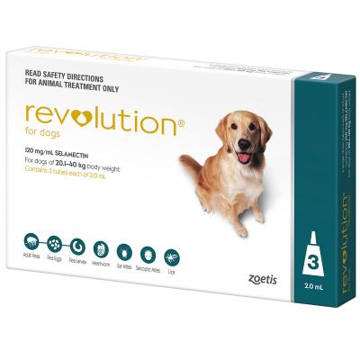 Revolution For Dogs 20.1-40kg Teal 3 Pack