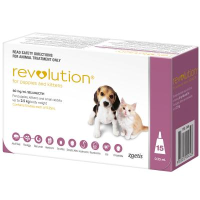 Revolution For Puppies and Kittens Up To 2.5kg Pink 15 Pack