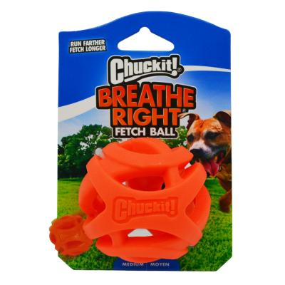 Chuckit Breathe Right Fetch Rubber Ball Medium Toy For Dogs 1 Pack