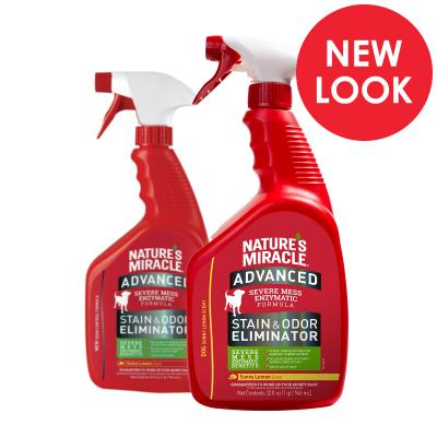 Natures Miracle Advanced Stain And Odour Eliminator Sunny Lemon Scent For Dogs 946ml