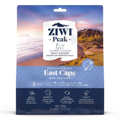 Ziwi Peak Provenance East Cape Air Dried Grain Free All Life Stages Cat Food And Topper 340gm