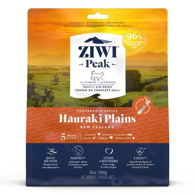 Ziwi Peak Provenance Hauraki Plains Air Dried Grain Free All Life Stages Cat Food And Topper 340gm