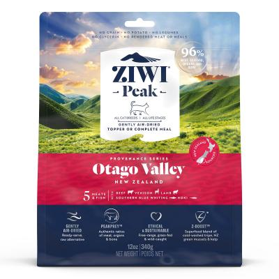 Ziwi Peak Provenance Otago Valley Air Dried Grain Free All Life Stages Cat Food And Topper 340gm