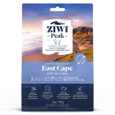 Ziwi Peak Provenance East Cape Air Dried Grain Free All Life Stages Dog Food And Topper 140gm