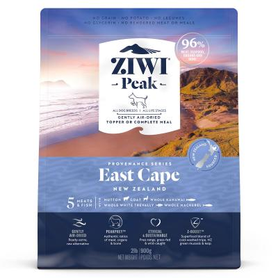 Ziwi Peak Provenance East Cape Air Dried Grain Free All Life Stages Dog Food And Topper 900gm