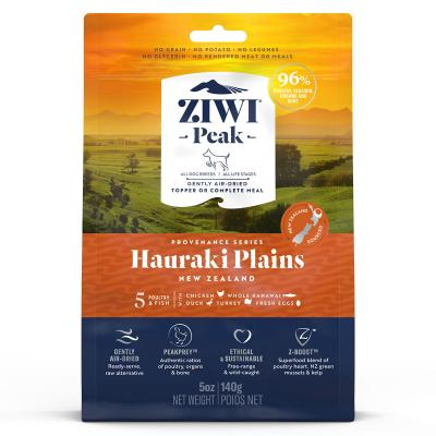 Ziwi Peak Provenance Hauraki Plains Air Dried Grain Free All Life Stages Dog Food And Topper 140gm