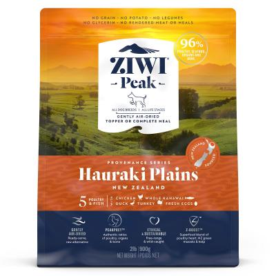 Ziwi Peak Provenance Hauraki Plains Air Dried Grain Free All Life Stages Dog Food And Topper 900gm