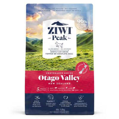 Ziwi Peak Provenance Otago Valley Air Dried Grain Free All Life Stages Dog Food And Topper 1.8kg