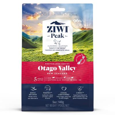 Ziwi Peak Provenance Otago Valley Air Dried Grain Free All Life Stages Dog Food And Topper 140gm
