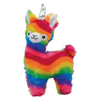 Prestige Snuggle Buddies Rainbow Llamacorn Plush Squeak Toy For Dogs