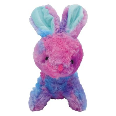 Prestige Snuggle Buddies Tie Dye Bunny Assorted Colours Plush Squeak Toy For Dogs
