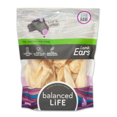 Balanced Life Lamb Ear Dried Treats For Dogs 16 Pack