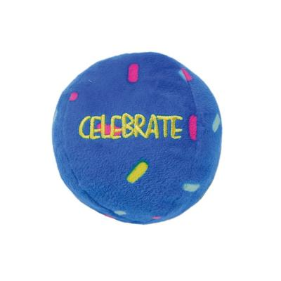 KONG Occasions Birthday Balls Large Plush Squeak Crinkle Toy For Dogs 2 Pack