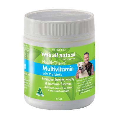Vets All Natural Multivitamin Prebiotic Health Chews For Dogs 270g