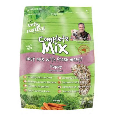 Vets All Natural Complete Mix Puppy Raw Dog Food 1kg