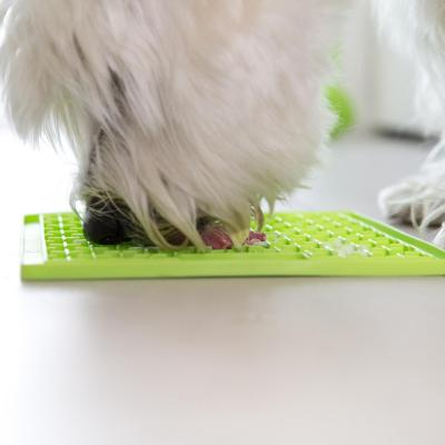 LickiMat Classic Buddy Slow Feeder Mat Green For Dogs