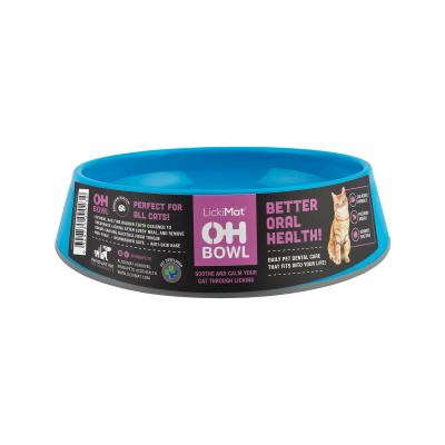LickiMat OH Oral Health Bowl Cyan For Cats
