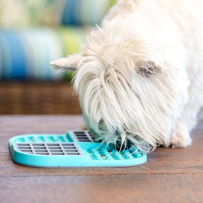 LickiMat Slomo Combo Slow Feeder Mat Turquoise For Dogs