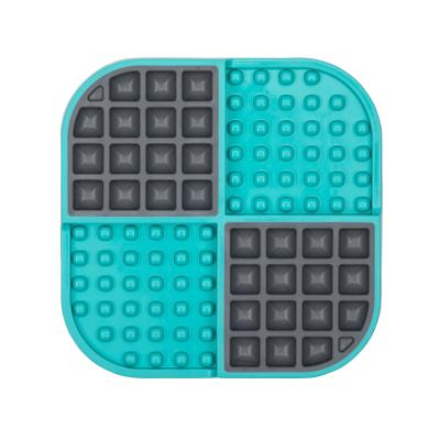LickiMat Slomo Combo Slow Feeder Mat Turquoise For Cats