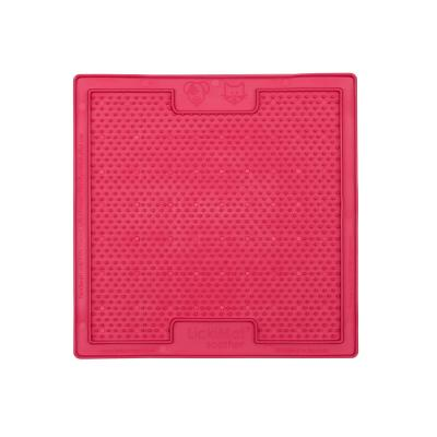 LickiMat Classic Soother Slow Feeder Mat Pink For Cats
