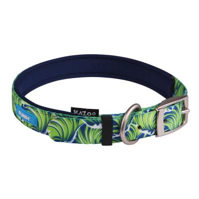 Kazoo Funky Nylon Collar Waves 55cm x 20mm Large For Dogs