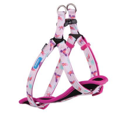 Kazoo Funky Nylon Walking Harness Galahs Small 38-53cm x 15mm For Dogs