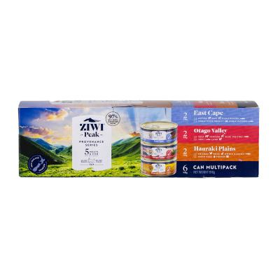Ziwi Peak Provenance Multi Pack Grain Free Canned Wet Meat Cat Food 85gm x 6