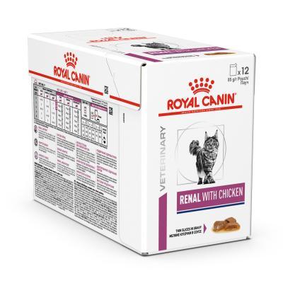 Royal Canin Veterinary Diet Feline Renal Chicken Pouch Wet Cat Food 85gm x 12 (AK05Y)