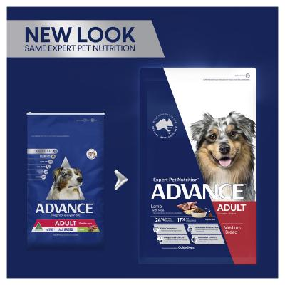 Advance Lamb With Rice Medium Breed Adult 15 Months - 6 Years Dry Dog Food 40kg