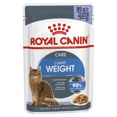 Royal Canin Light Weight Care In Jelly Adult Pouches Wet Cat Food 85g x 24