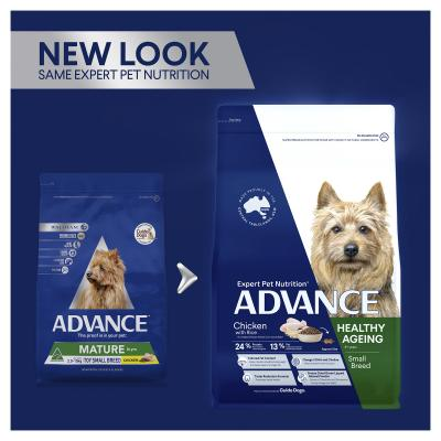 Advance Healthy Ageing Chicken With Rice Toy/Small Breed Mature/Senior 8+ Years Dry Dog Food 3kg
