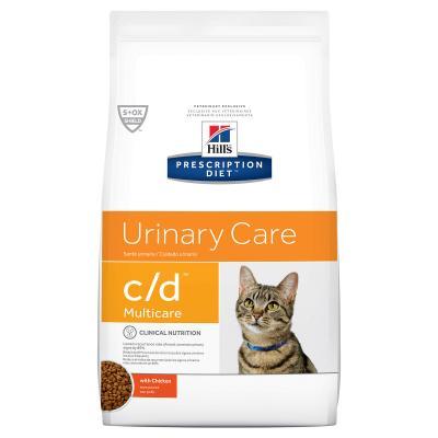 Hills Prescription Diet Feline c/d Urinary Care Multicare Adult Chicken Dry Cat Food 1.5kg (10369HG)